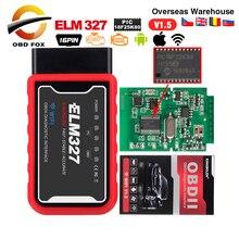 ELM327 mini bluetooth V1.5 PIC1825K80 súper mini elm 327 wifi USB Conector OBD2 V2.1 para Android Torque lector de código escáner
