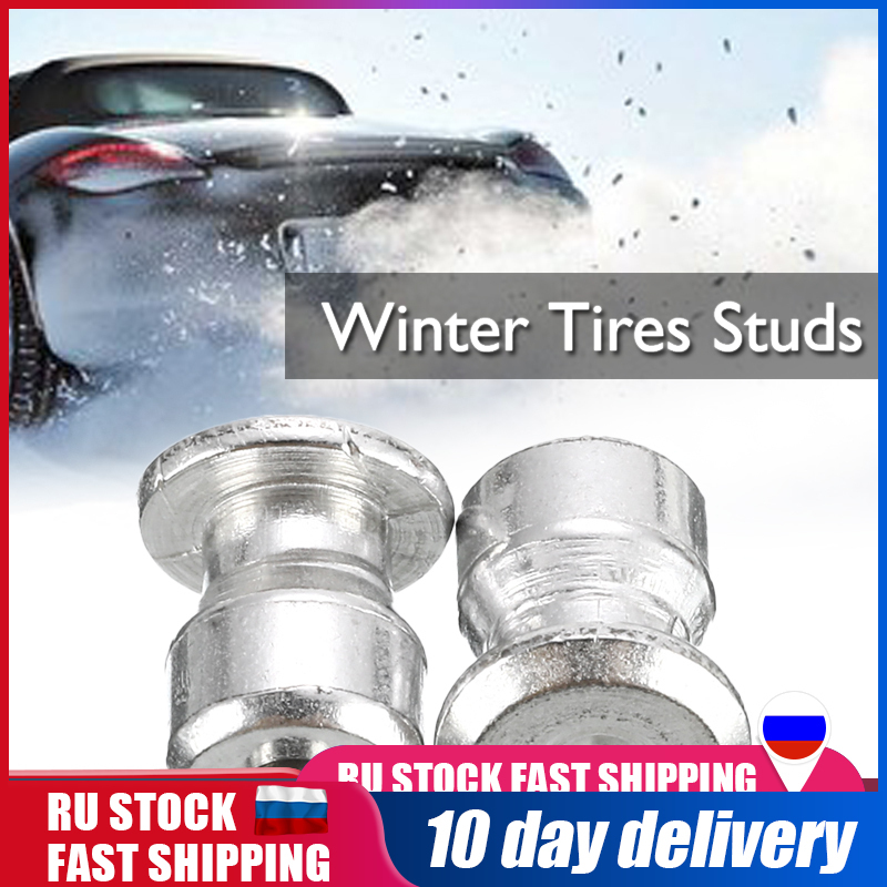 Car Tires Studs Screw Snow Spikes Wheel Tyre Snow Chains Studs For Shoes ATV Motorcycle Winter Wheel Lugs Anti-skid Nails100Pcs