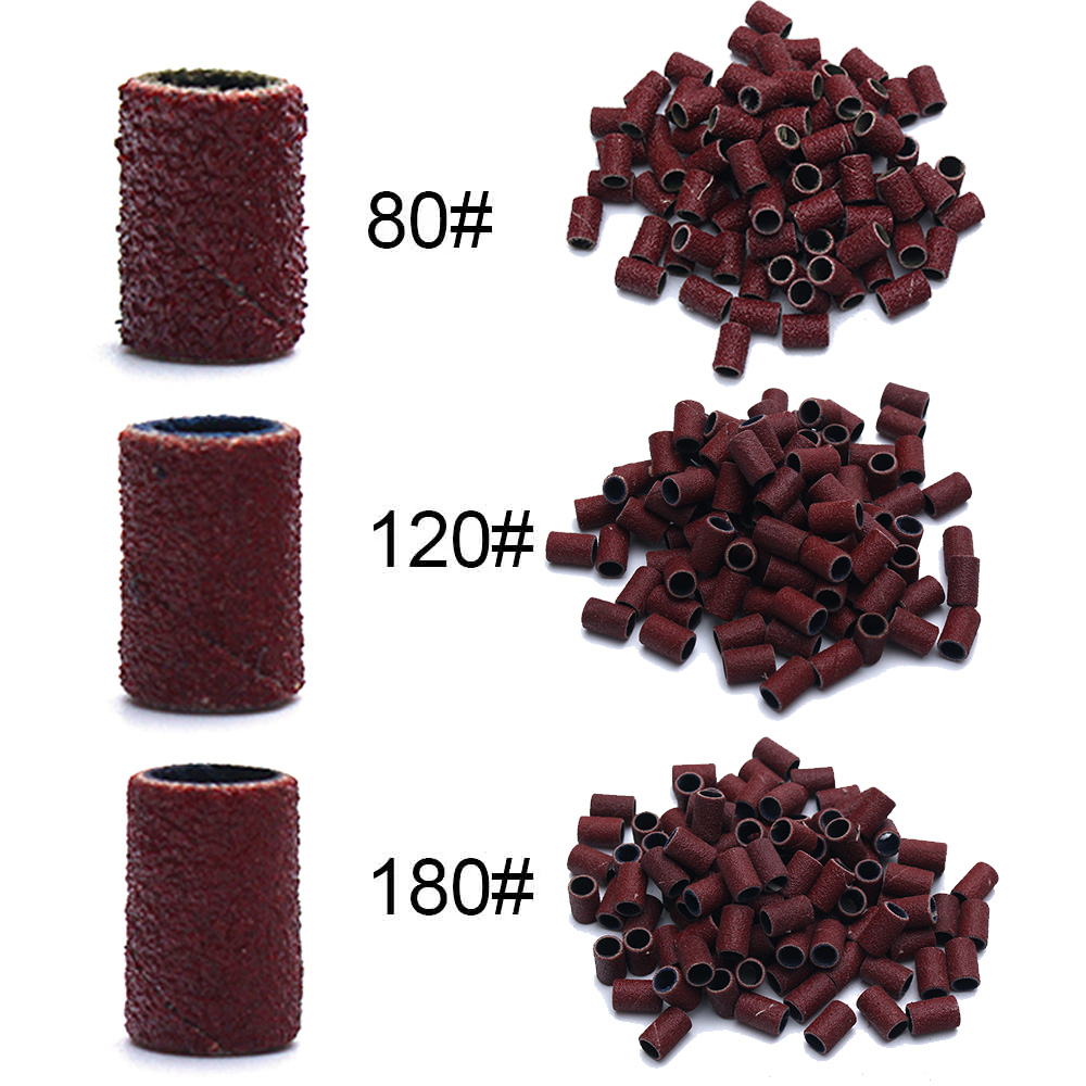 80 #120 #180 # máquina elétrica do prego bocados de broca do prego arte do prego lixa bandas uv gel acrílico polonês removedor para ferramenta acessório do prego|Equipamento de unhas artísticas|   -
