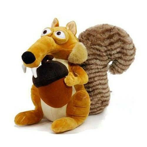 Funny Cute Animal Doll Ice Age 3 SCRAT Squirrel Stuffed Kids Plush Toy Decorations Birthday Gift Anti-wrinkle Pillow For Child