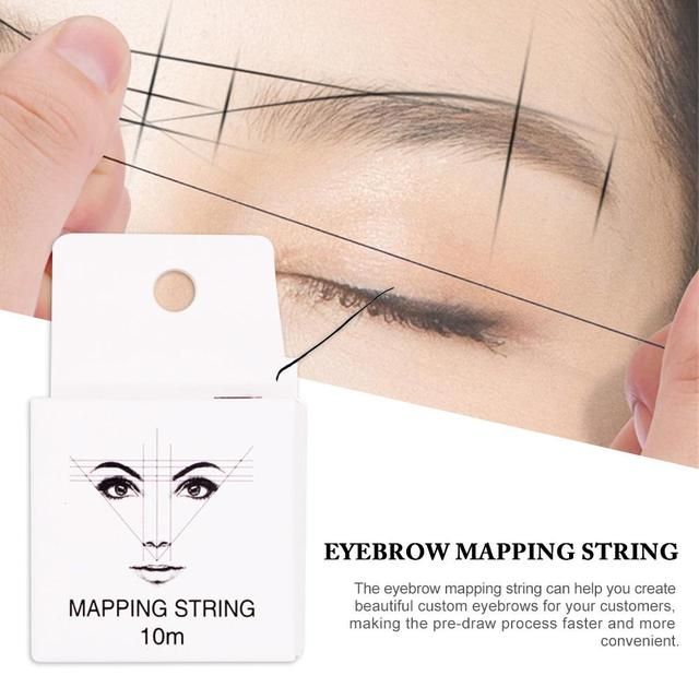 Pre-ink String for Microblading Eyebow Make Up Dyeing Liners 10m Thread Semi Permanent Positioning Eyebrow Measuring Tool 40a