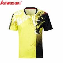 Kawasaki мужские рубашки для бадминтона дышащая быстросохнущая футболка для мужчин тренировочный ультра-светильник спортивная одежда ST-S1131