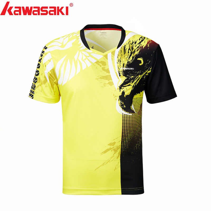 Kawasaki Mens Badminton Shirts  Breathable Quick Dry T-shirt For Men Training Running Ultra-light  Sportswear ST-S1131