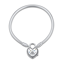 Fantasyland Castle Heart Bracelet Sterling Silver Jewelry For Woman Fashion Make Up European Bracelet