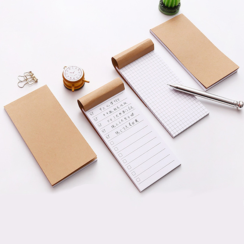 Pocket Kraft Paper Memo Pad Notepad Stationery Scrapbooking Memo Notes To Do List Tear Checklist Note Pad