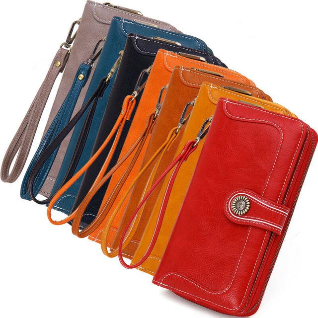 Women Lady Soft Leather Wallet