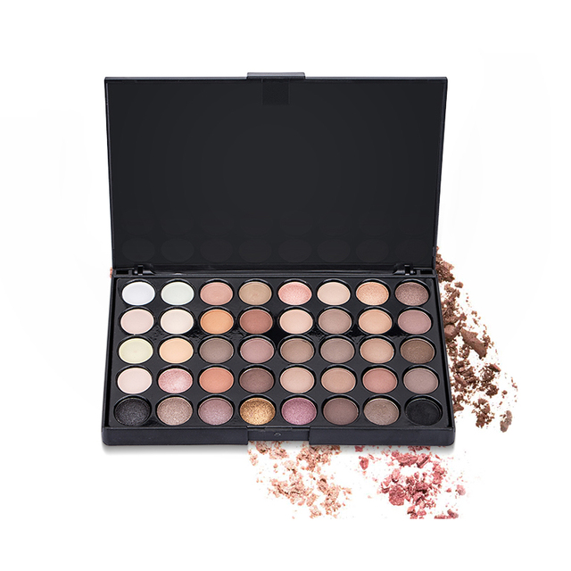 40 Colors Earth Color Long Lasting Eyeshadow Pallete Makeup Matte Eye Shadow Palette Pearl Shimmer Makeup Cosmetic Set TSLM1 3