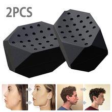 O exercitador da maxila do exercício do maxilar e do pescoço define seu tom do maxilar ajuda a reduzir o estresse e os desejos exercitador facial