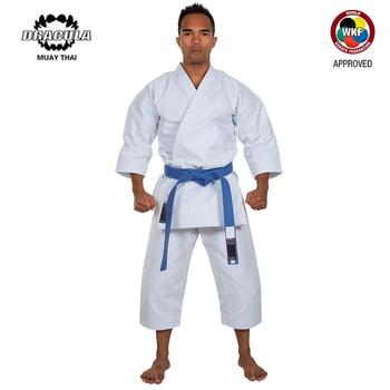 Drácula Wkf, uniforme profesional de Karate blanco con cinturón de cintura, traje de Taekwondo para adultos, niños, mujeres, hombres, entrenamiento de Kung Fu
