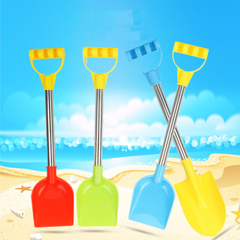 4pcs/Lot Stainless Steel Shovel Summer Sand Beach Toys Children Seaside Water Play Tools Hot Sale