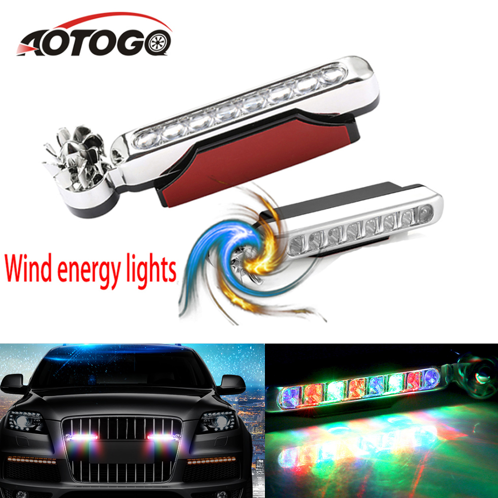 DRL Daytime Running Lights HIGH POWER 8 LED Day Fog LAMPS A