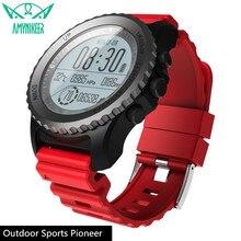 AMYNIKEER ساعة ذكية S968 ساعة رياضية خارجية لتحديد المواقع المهنية السباحة ساعة IP68 مقاوم للماء ساعة ECG مراقب معدل ضربات القلب