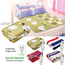 Thicker Plush Electric Heating Blanket Thermostat Mattress Bedding Winter Sleep Warmer Safety Home Heater Pad Heated
