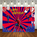 Anime Superhero Cartoon Picture Child Birthday Scene Decoration Layout Vinyl Backdrop Photo Studio Photography Background