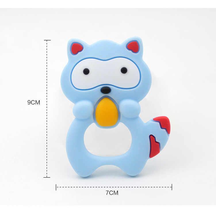 1 pieza productos para bebés mordedor de bebé juguetes de dibujos animados pingüino bebé silicona dije mordedor collar accesorios juguetes de dentición