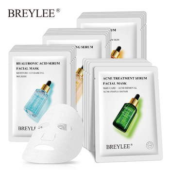 BREYLEE Face Mask Collagen Facial Sheet Mask Retinol Acne Treatment Serum Whitening Moisturizer Skin Care Anti Aging Vitamin C 1