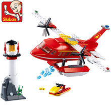 348Pcs City Police Fire Spray Water Fighting Aircraft Plane Building Blocks Sets LegoINGLs Bricks DIY Toys for Children