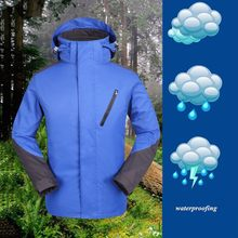 Men Winter Hiking Jackets Hooded Softshell Windproof Waterproof Soft Coat Shell Jacket Zipper Coat Outdoor Camping Sport Jacket(China)