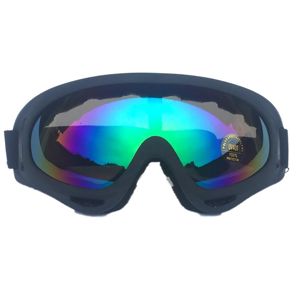 Лыжные очки для женщин, девочек, мужчин и мальчиков PC UV 400 защитные линзы ветрозащитные пылезащитные регулируемые спортивные очки