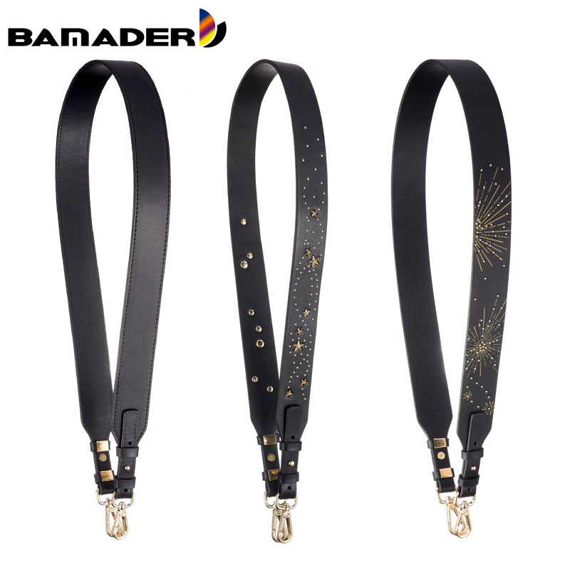 BAMADER Bag Strap Leather Shoulder Bag Strap Fashion Women Handbag Accessory Designer Bag Strap Stars Firework Shoulder Strap