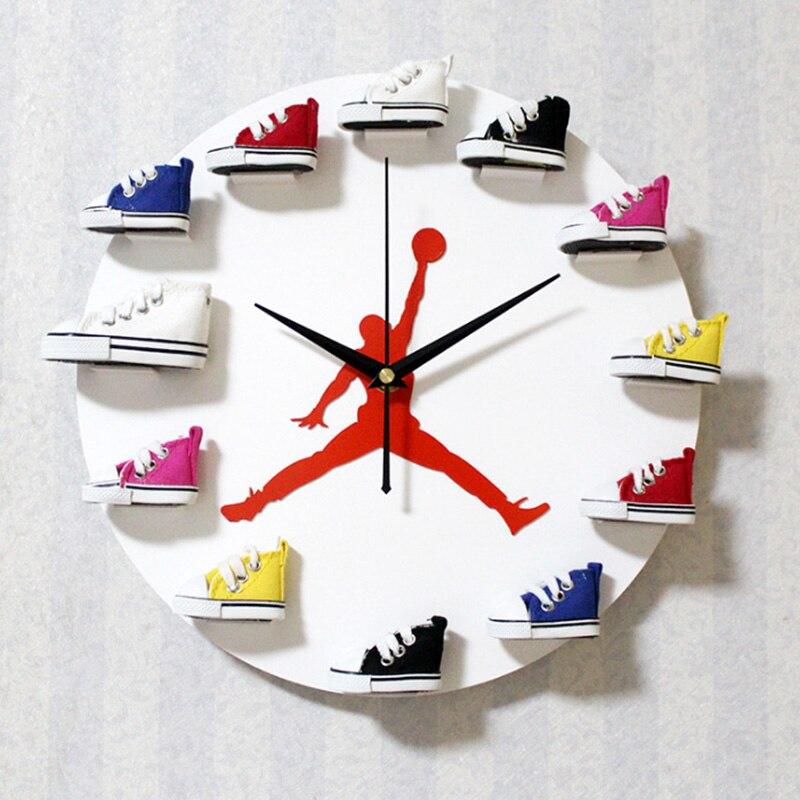 3D Sport Shoes Wall Clock Sneakers Decorative Vinyl Watch  Modern Design Wall Art Decor 3D Sport Shoes Wall Clock Home Decor