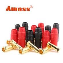 Youme, 6 пар, Amass AS150, мужской, женский, с защитой от искры, позолоченный, набор штепсельных вилок типа «банан» для аккумулятора, ESC, свинец для рад...
