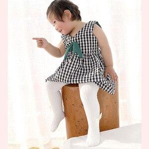 Колготки с бантом для девочек; Хлопковые колготки; Детские чулки для маленьких девочек; Мягкие дышащие трикотажные детские колготки; Цвет ч...