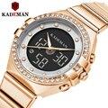 Kademan 2020 новые женские часы люксовый бренд женские кварцевые часы из нержавеющей стали с сетчатым ремешком повседневные наручные часы с брас...