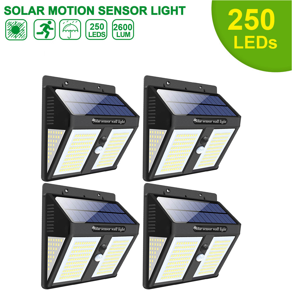 100/146/ 250 LED Solar Security Lights Motion Sensor Solar Wall Lamp For Outdoor Garden Path Decoration Waterproof Street Light