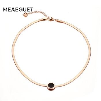 Collar gargantilla de cadena de serpiente esmaltada de Color oro rosa, joyería de acero inoxidable para fiesta de mujer