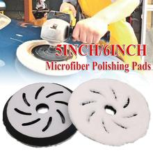 5/6Inch Microfiber Polishing Pads Buffing Pads Polishing Felt Wheel For Car Car Care Cleaning Polishing Sponge Polishing Pads