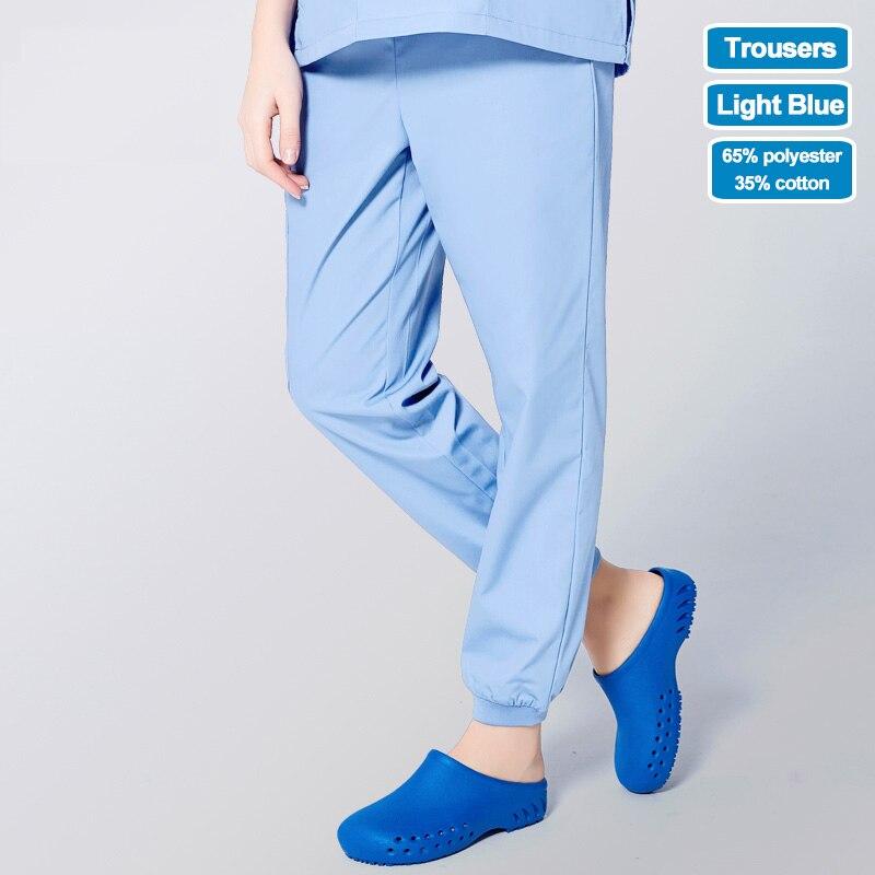 Image 5 - ANNO Work Trouser Doctor Nurse Uniform Bottoms Elastic Cuffs Dental Medical Clothing Scrub Nursing Pants for Women MenScrub Tops & Bottoms   -