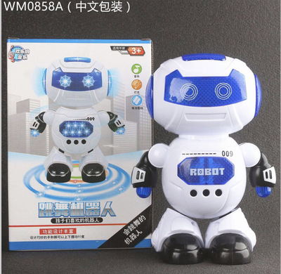 Electric Robot CHILDREN'S Toy Space Dancing Electric Robot 360-Degree Rotating Light Music Toy
