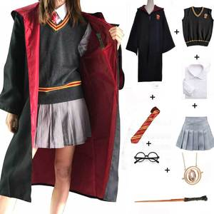 Gryffindor Hufflepuff Slytherin Ravenclaw Costume Hermione Granger Cosplay Robe Skirt Glasses Uniform Halloween Costume(China)