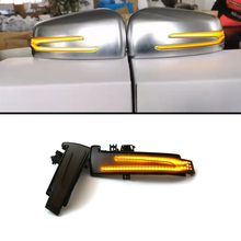 Blue + yellow 2pcs Dynamic Turn Signal LED Light Side Mirror Indicator For Mercedes Benz W204 CLA A B C E S GLA GLK CLS Class