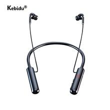 Magneet 60 Uur Uithoudingsvermogen Bluetooth Hoofdtelefoon Stereo Bass Draadloze Hoofdtelefoon Nekband Power Led Display Headset Tf Card