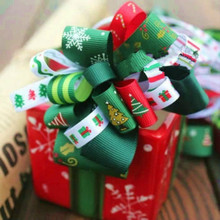 One Meter Christmas Ribbons For Crafts Red / Green White Silk Ribbon Needlework DIY Home Decoration Packaging Tape