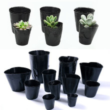 100 pçs caixa de plástico crescer resistente a queda bandeja casa jardim planta pote berçário transplante vasos de flores mudas plantador recipientes