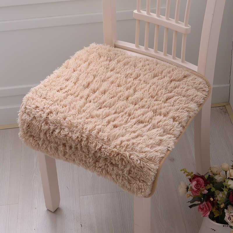 Gorąca sprzedaż bawełny ławki poduszki biurowe Student Boss poduszki zimowe ciepłe antypoślizgowe pluszowe krzesło do jadalni poduszki zmywalne