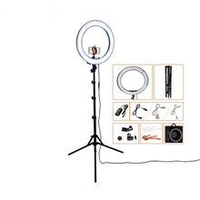 Fusitu 18นิ้วRinglightถ่ายภาพแสงLED Lightกับหลอดไฟขาตั้งขาตั้งกล้องสำหรับกล้องโทรศัพท์YouTubeแต่งหน้า