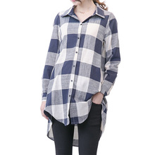 Plaid Maternity Blouses High Quality Loose Top Clothes For Pregnant Women Wear Pregnancy Clothing Long Sleeve Shirt Plus Size