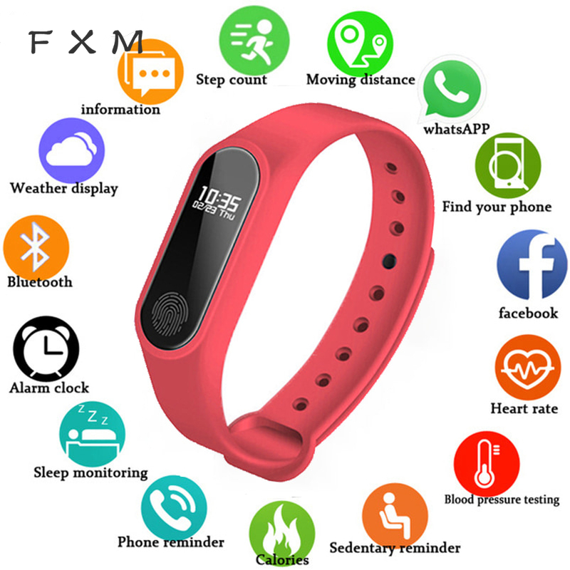 NEW M2 Smart Fashion Sport Watch Fitness Running Tracker Bracelet Step Count Distance Calorie Calculator Band For Men Women Kids