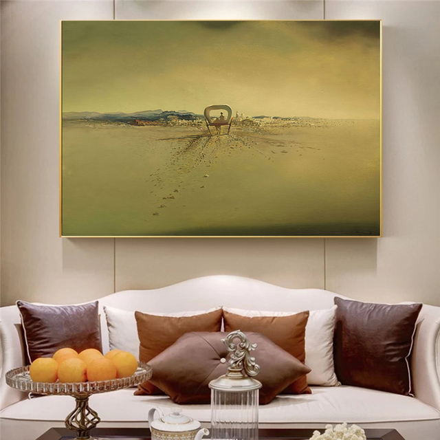 Salvador Dali Surrealism Ghost carriage Canvas Prints Painting On Wall Art Abstract Weird Posters Picture Home Decor Cuadros 2