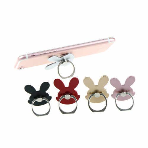 1 pieza universal conejo diseño anillo soporte dedo móvil teléfono pata de pie soporte Universal para Smartphone