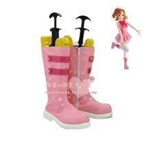 Anime LoveLive! Start dash!! Kousaka Honoka Cosplay Shoes Kawaii Pink Boots PU Leather High Quality Womens US Size 4-12