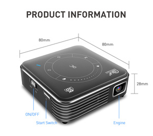 Image 5 - GloryStar Android 9.0 Support 4K Mini Projector 3D HD Portable Micro WIFI Bluetooth DLP Mobile LED Projector with Battery P11