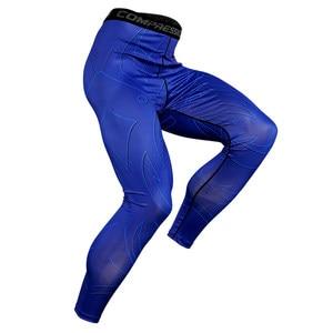 Компрессионные штаны для бега, компрессионные штаны для мужчин, спортивные легинсы для футбола, фитнеса, бега в тренажерном зале, быстросох...