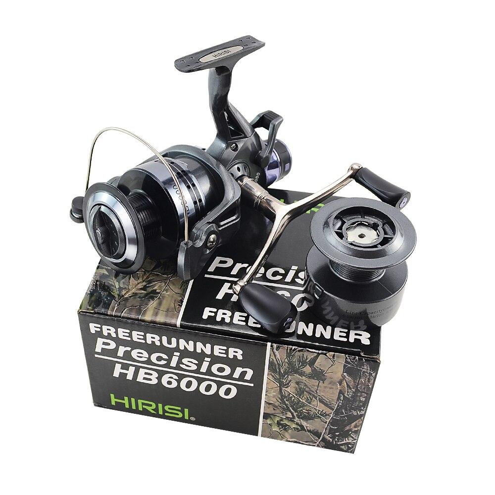 Hirisi Tackle Carp Fishing Reel Spinning Free Runner HB4000 Free Extra Spool UK