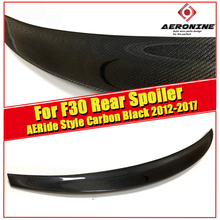 For BMW F30 RIDE Style Carbon Fiber Rear Trunk Spoiler Wing Lip 3-Series 320i 320d 325i 328i 330i 335i 340i Look Wings 2012-2017 white yellow turning signal concept m4 iconic style led angel eye for bmw 3 series f30 320i 328i 335i 330i 340i 318i 330e 13 17