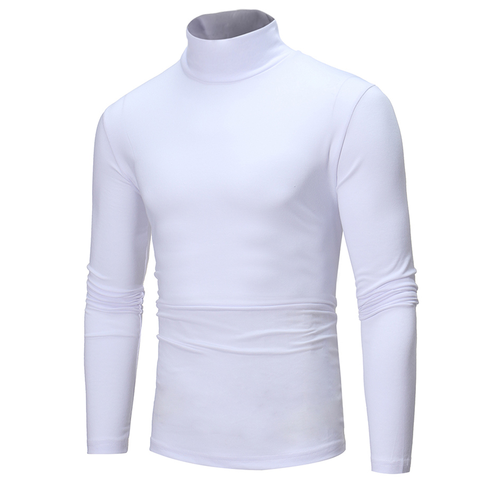 Mens Fashion New Casual Cotton Sweaters Turtle Neck Skivvy Turtleneck Sweaters Stretch Tops